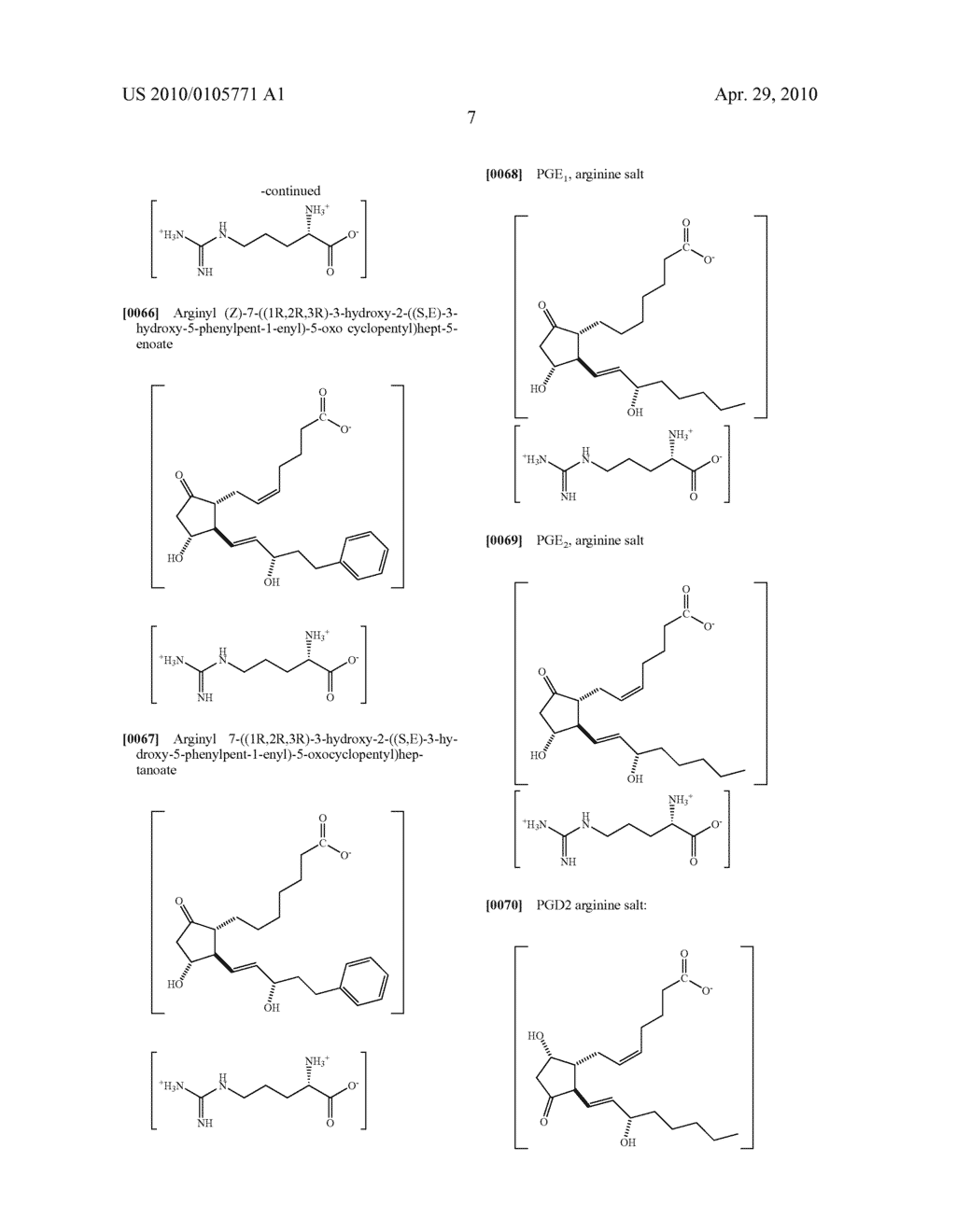 AMINO ACID SALTS OF PROSTAGLANDINS - diagram, schematic, and image 08