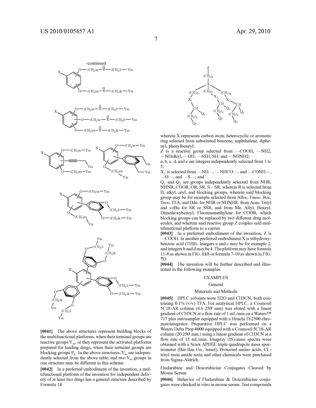 DENDRIMERIC PLATFORM FOR CONTROLLED RELEASE OF DRUGS - diagram, schematic, and image 61