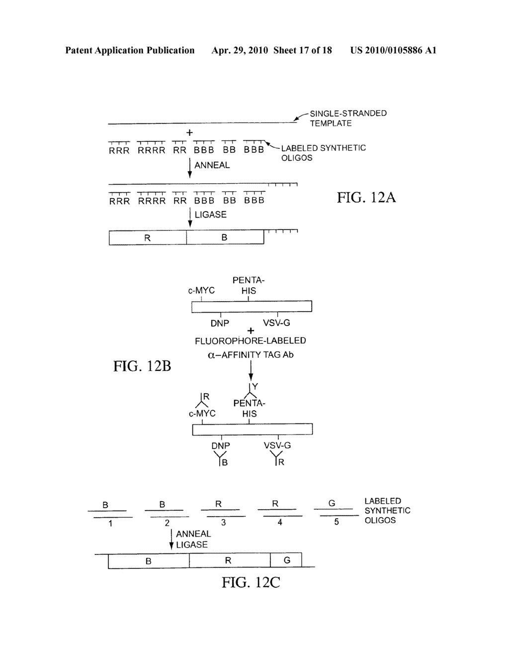 COMPOSITIONS, METHODS, AND KITS FOR FABRICATING CODED MOLECULAR TAGS - diagram, schematic, and image 18