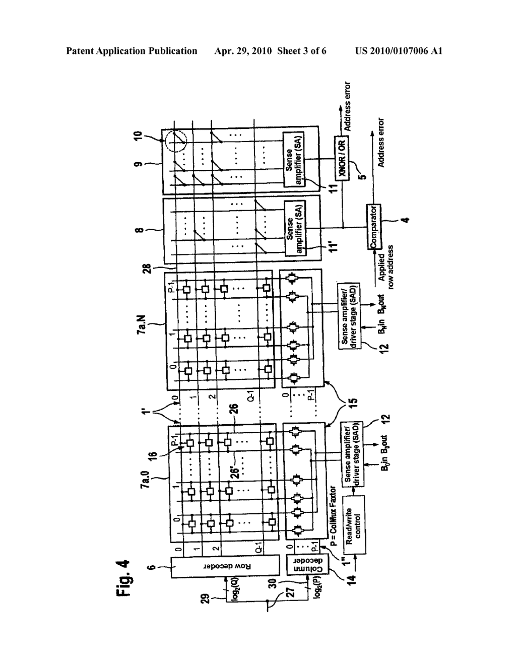 Method and Semiconductor Memory With A Device For Detecting Addressing Errors - diagram, schematic, and image 04