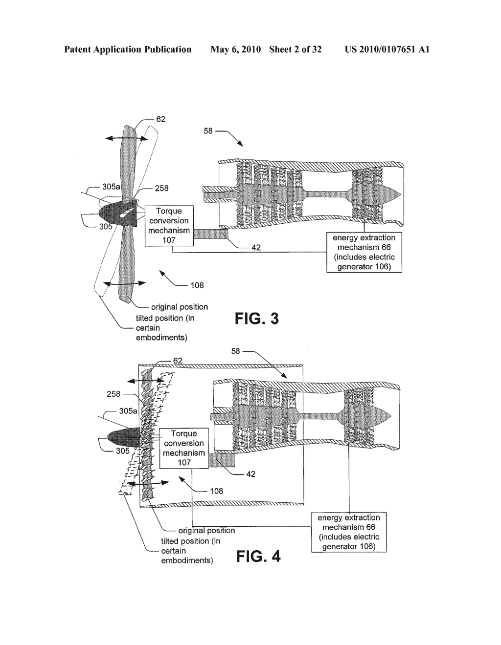 Hybrid propulsive engine including at least one independently rotatable compressor stator - diagram, schematic, and image 03