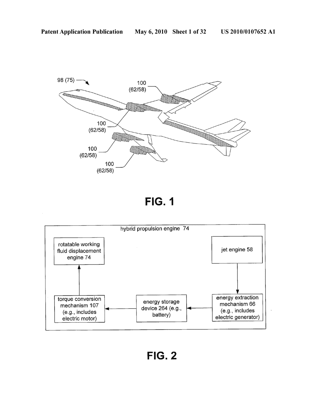 Hybrid propulsive engine including at least one independently rotatable compressor rotor - diagram, schematic, and image 02
