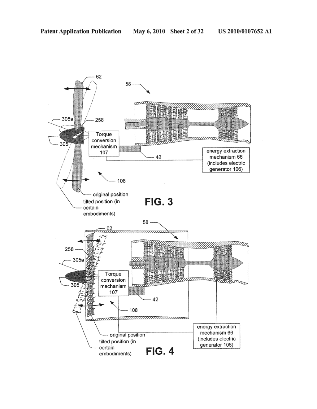 Hybrid propulsive engine including at least one independently rotatable compressor rotor - diagram, schematic, and image 03