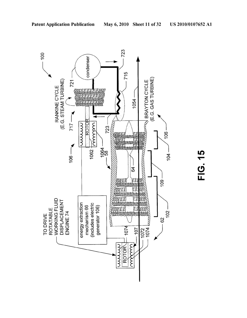 Hybrid propulsive engine including at least one independently rotatable compressor rotor - diagram, schematic, and image 12