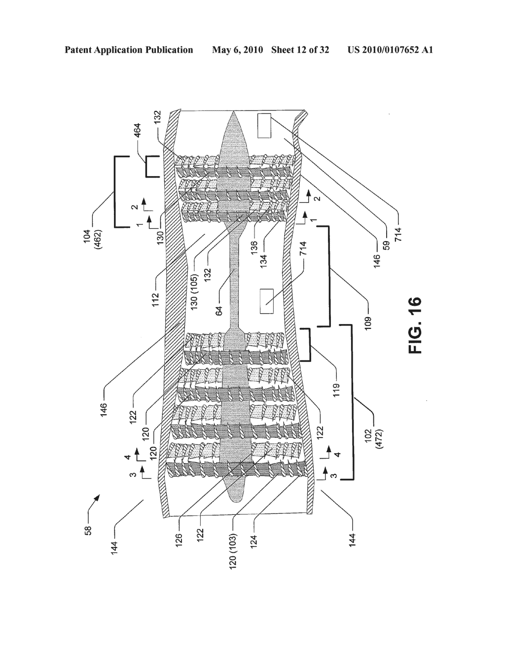 Hybrid propulsive engine including at least one independently rotatable compressor rotor - diagram, schematic, and image 13
