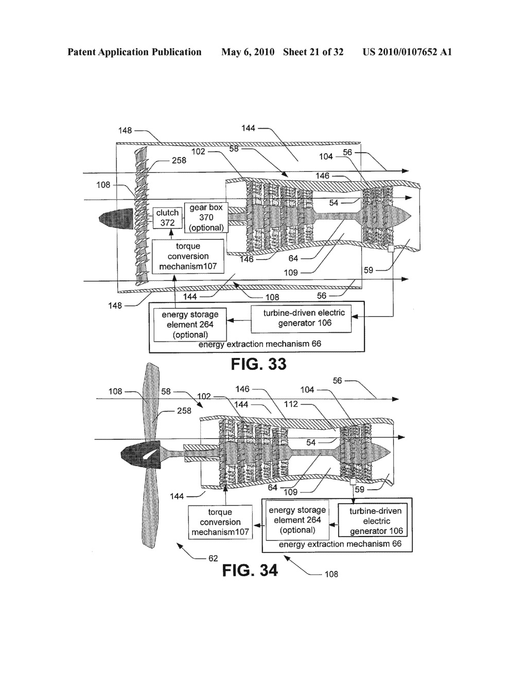 Hybrid propulsive engine including at least one independently rotatable compressor rotor - diagram, schematic, and image 22