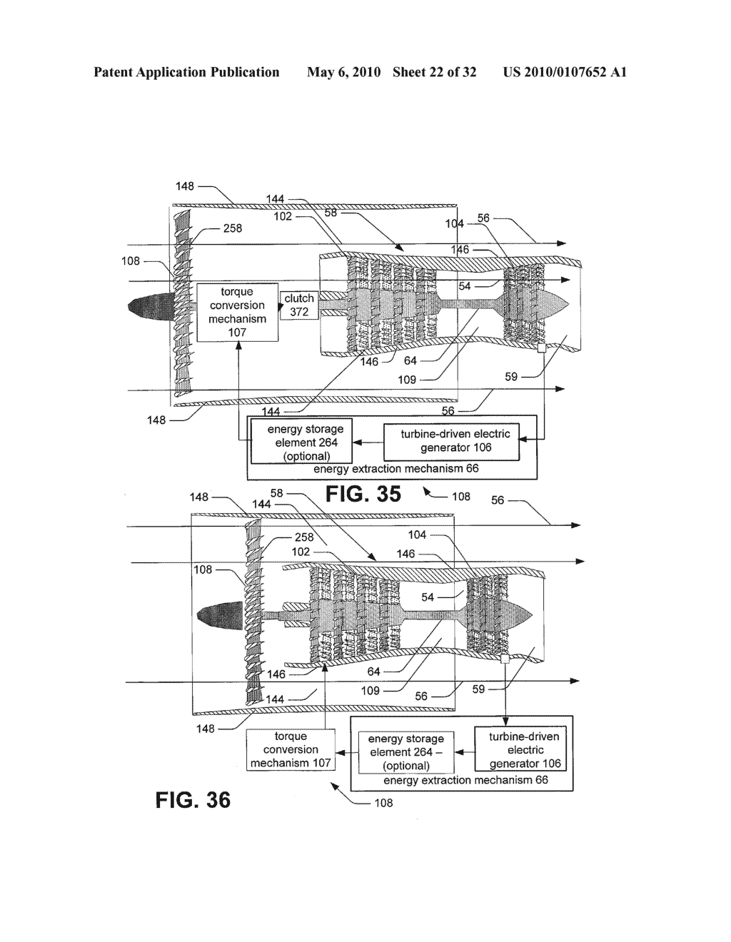 Hybrid propulsive engine including at least one independently rotatable compressor rotor - diagram, schematic, and image 23