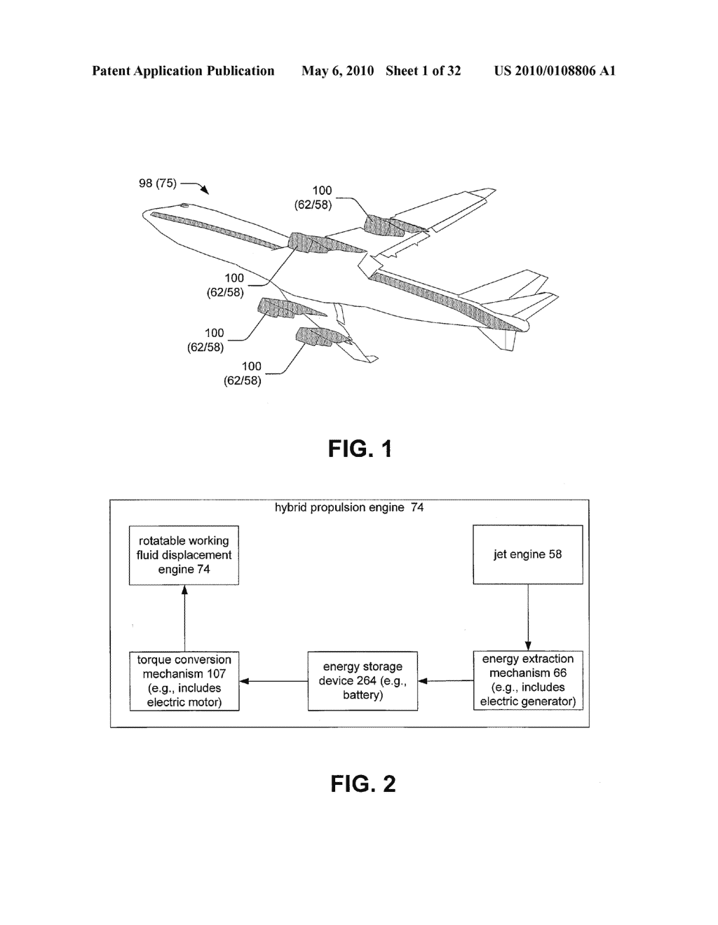 Hybrid propulsive engine including at least one independently rotatable propeller/fan - diagram, schematic, and image 02
