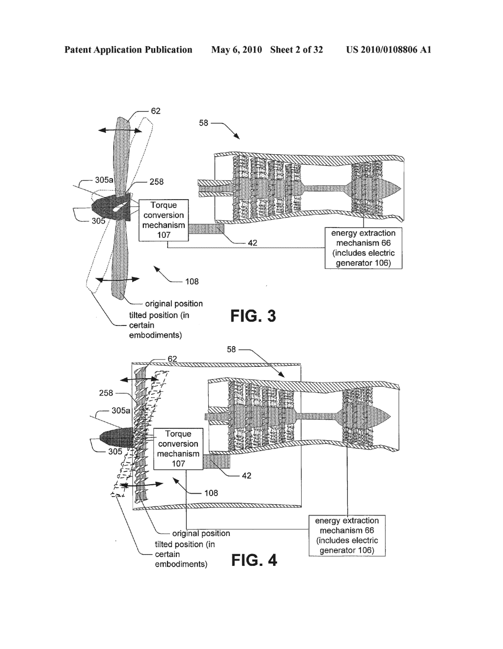 Hybrid propulsive engine including at least one independently rotatable propeller/fan - diagram, schematic, and image 03
