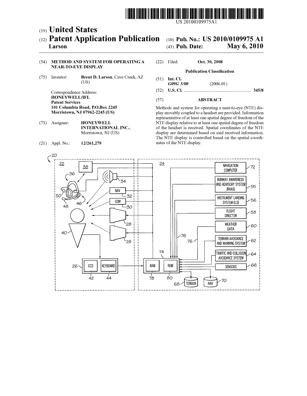 METHOD AND SYSTEM FOR OPERATING A NEAR-TO-EYE DISPLAY - diagram, schematic, and image 01