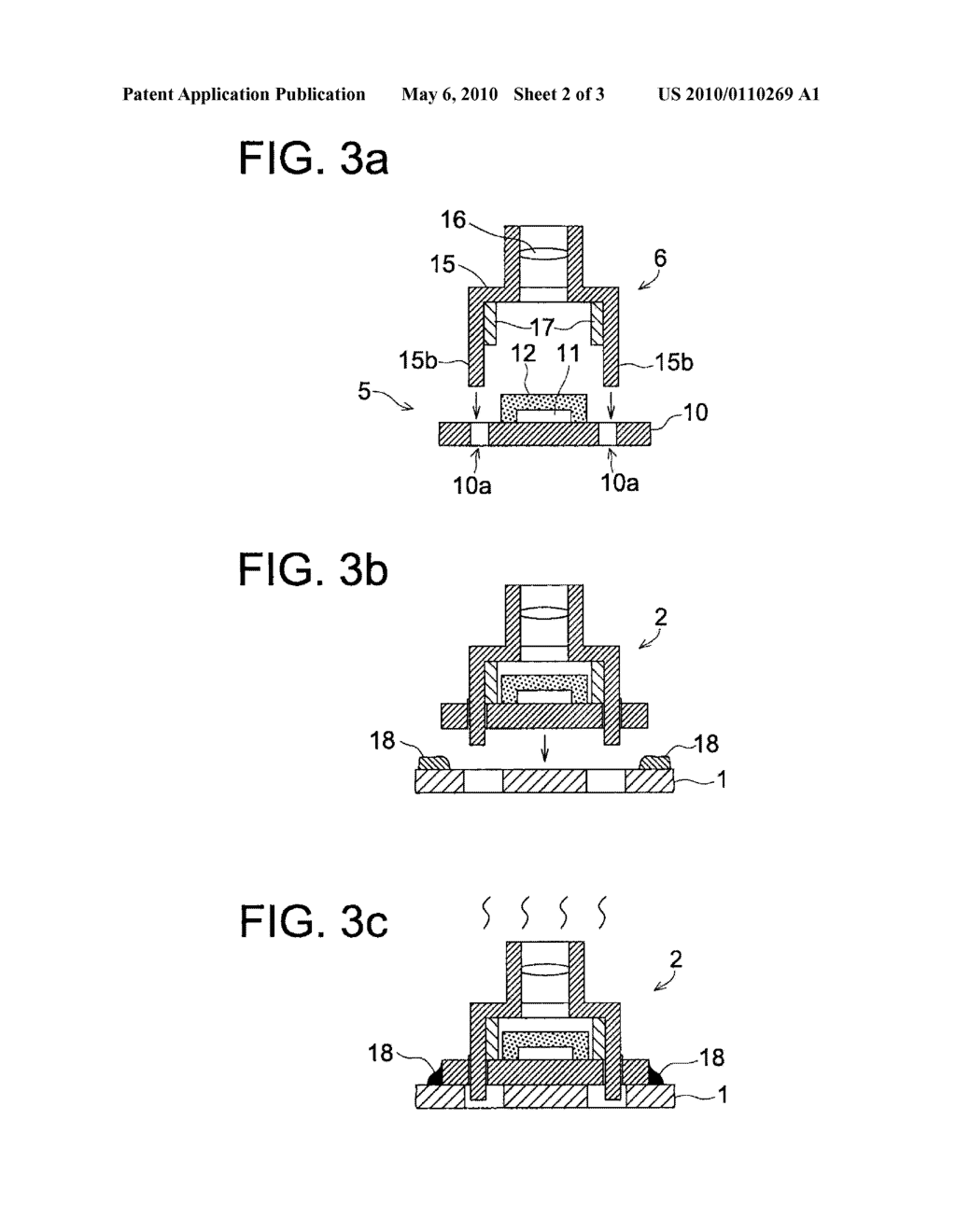 IMAGE PICK-UP DEVICE AND METHOD FOR MANUFACTURING THE DEVICE - diagram, schematic, and image 03