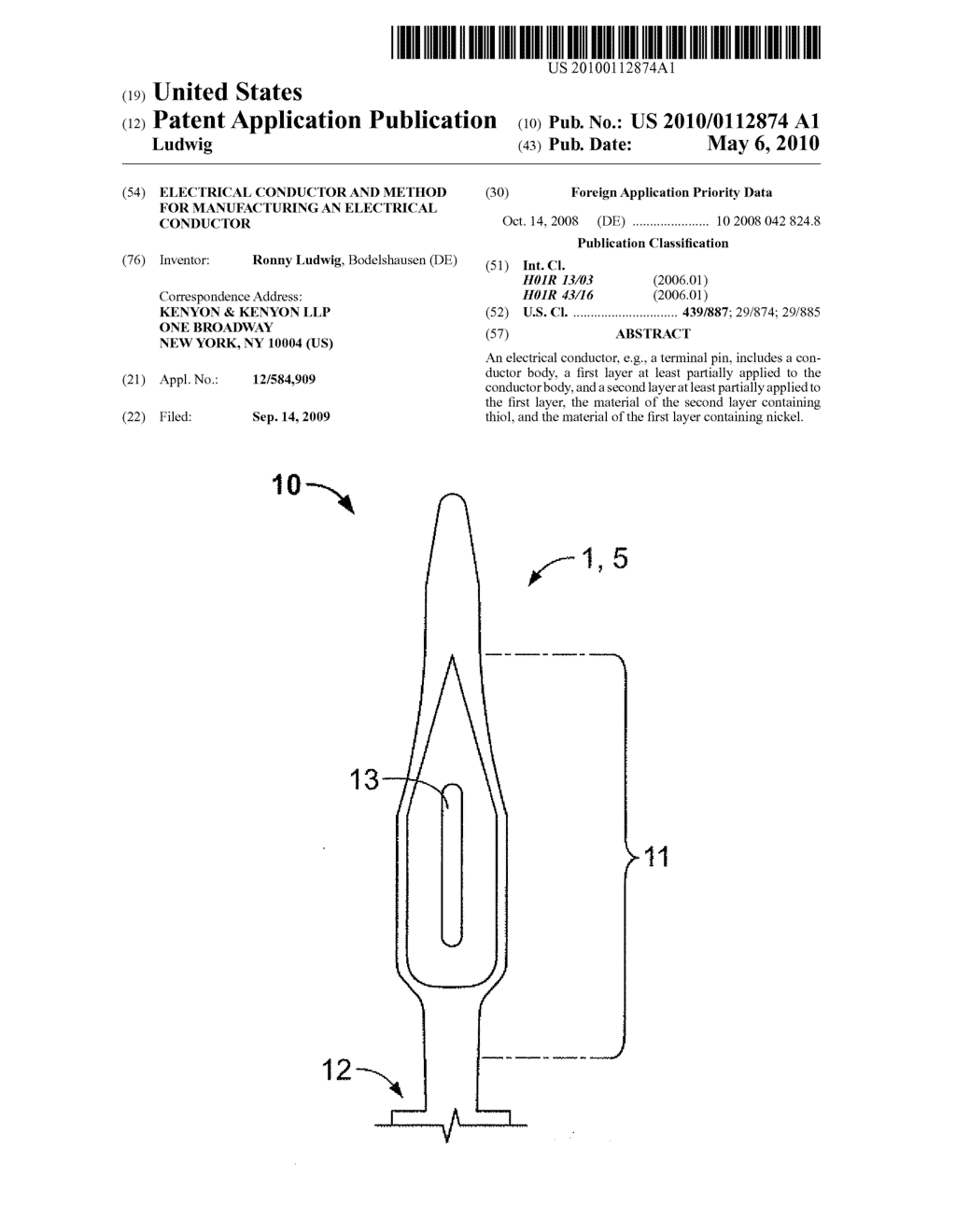 Electrical conductor and method for manufacturing an electrical conductor - diagram, schematic, and image 01