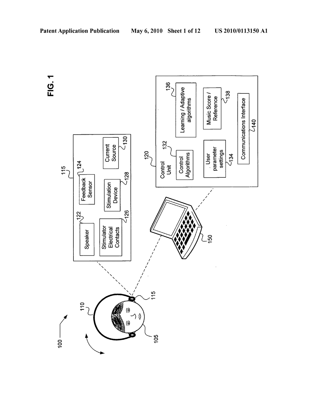 System and method for game playing using vestibular stimulation - diagram, schematic, and image 02