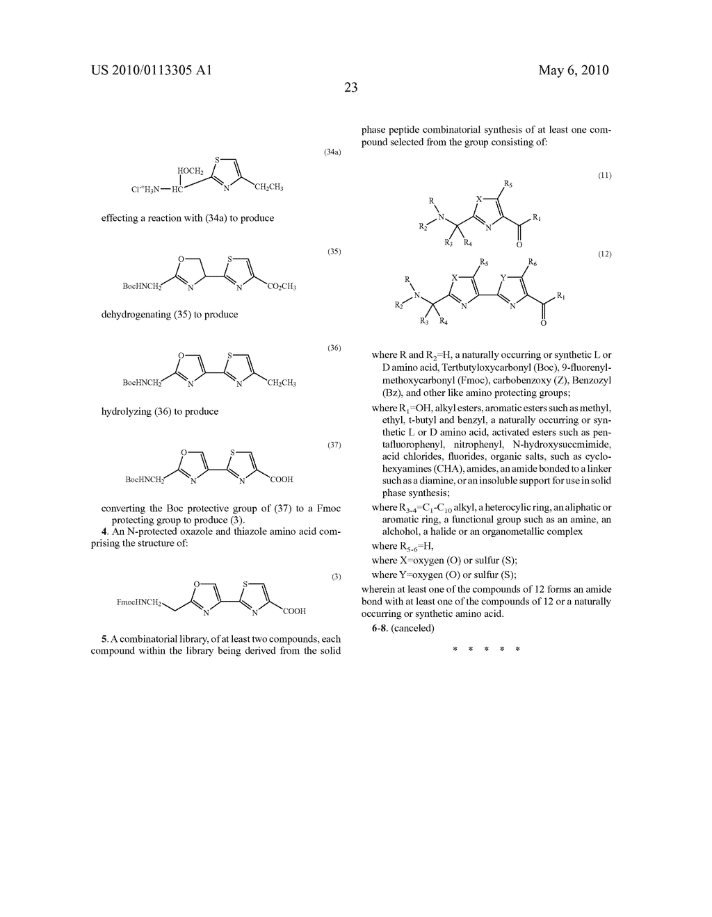 OXAZOLE AND THIAZOLE COMBINATORIAL LIBRARIES - diagram, schematic, and image 30