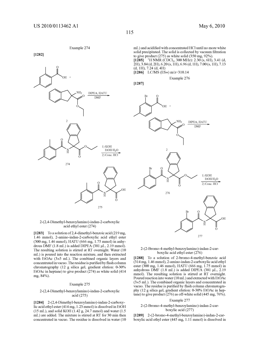 SUBSTITUTED BENZOYLAMINO-INDAN-2-CARBOXYLIC ACIDS AND RELATED COMPOUNDS - diagram, schematic, and image 116