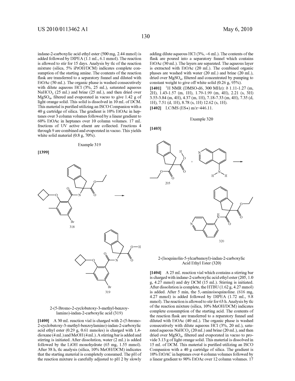 SUBSTITUTED BENZOYLAMINO-INDAN-2-CARBOXYLIC ACIDS AND RELATED COMPOUNDS - diagram, schematic, and image 131