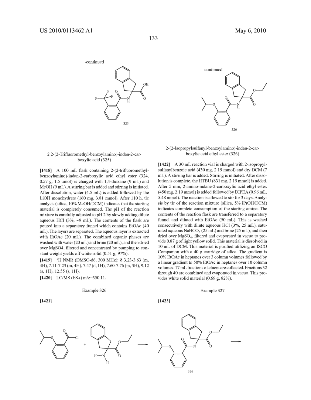 SUBSTITUTED BENZOYLAMINO-INDAN-2-CARBOXYLIC ACIDS AND RELATED COMPOUNDS - diagram, schematic, and image 134