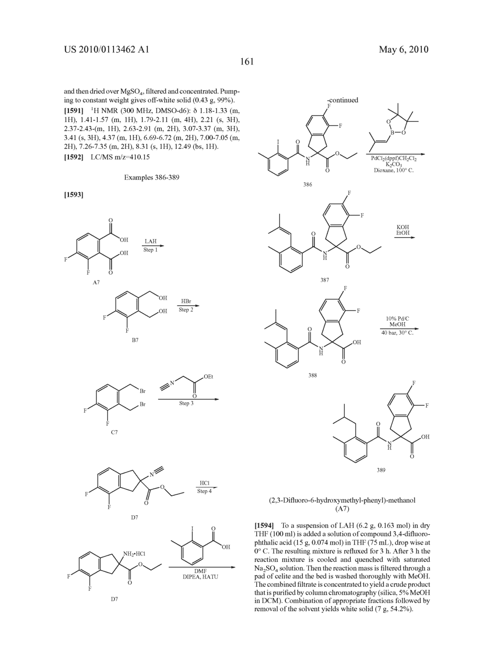 SUBSTITUTED BENZOYLAMINO-INDAN-2-CARBOXYLIC ACIDS AND RELATED COMPOUNDS - diagram, schematic, and image 162