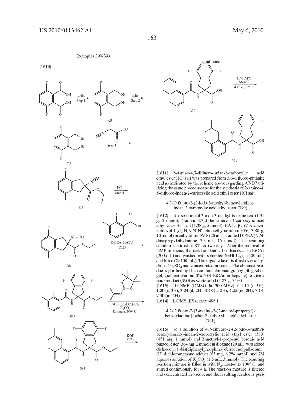 SUBSTITUTED BENZOYLAMINO-INDAN-2-CARBOXYLIC ACIDS AND RELATED COMPOUNDS - diagram, schematic, and image 164