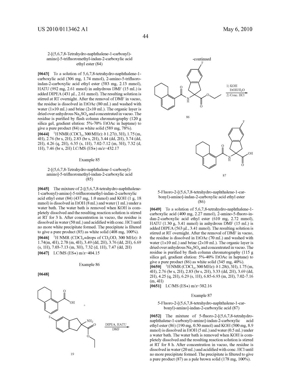 SUBSTITUTED BENZOYLAMINO-INDAN-2-CARBOXYLIC ACIDS AND RELATED COMPOUNDS - diagram, schematic, and image 45
