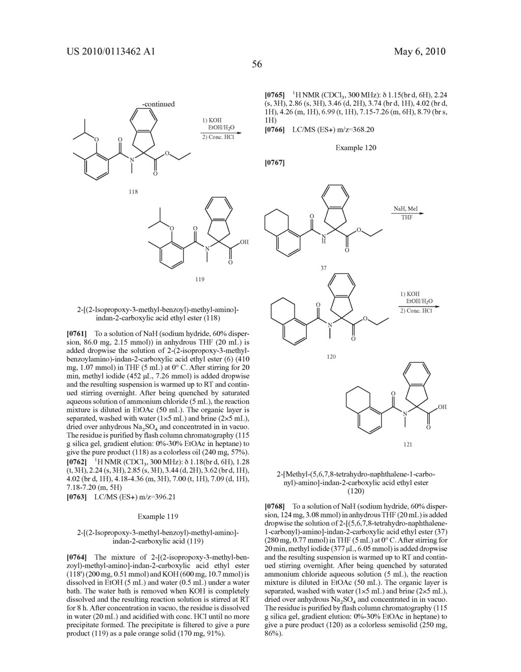 SUBSTITUTED BENZOYLAMINO-INDAN-2-CARBOXYLIC ACIDS AND RELATED COMPOUNDS - diagram, schematic, and image 57