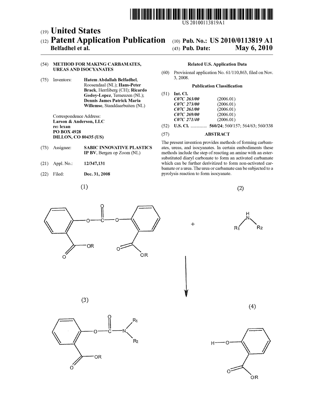Method for Making Carbamates, Ureas and Isocyanates - diagram, schematic, and image 01