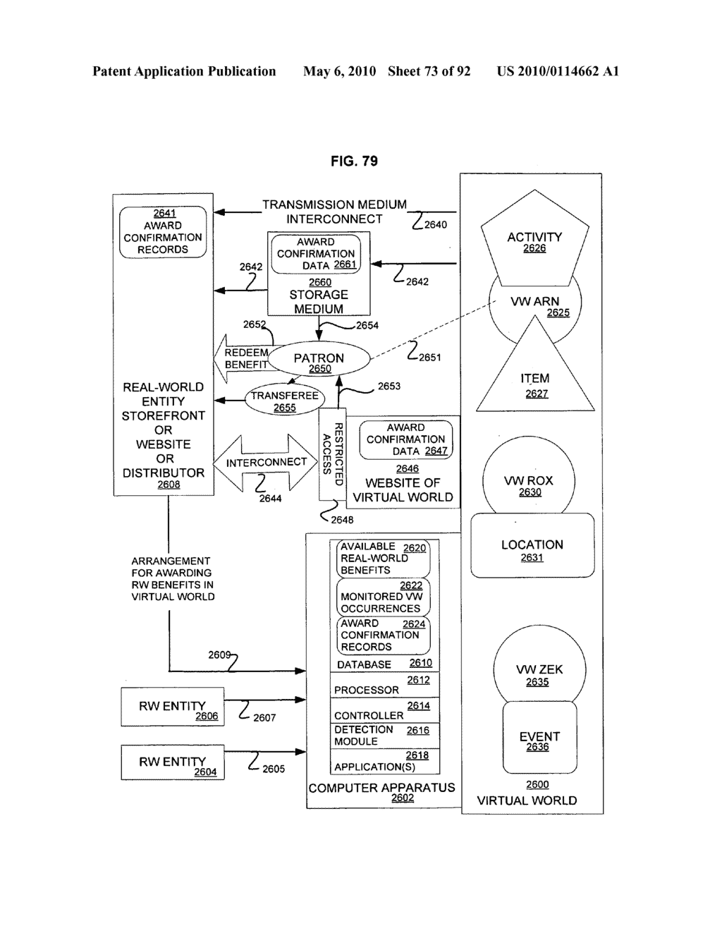 Real-world profile data for making virtual world contacts - diagram, schematic, and image 74