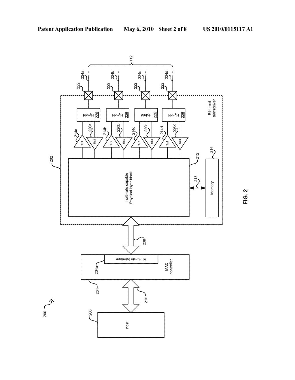 Method And System For Packet Based Signaling Between A MAC And A PHY To Manage Energy Efficient Network Devices And/Or Protocols - diagram, schematic, and image 03