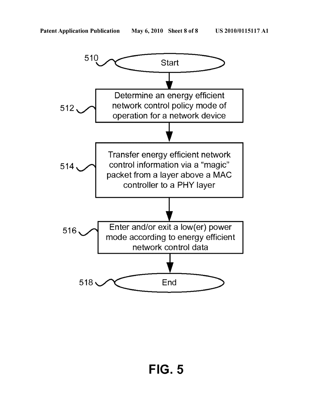 Method And System For Packet Based Signaling Between A MAC And A PHY To Manage Energy Efficient Network Devices And/Or Protocols - diagram, schematic, and image 09