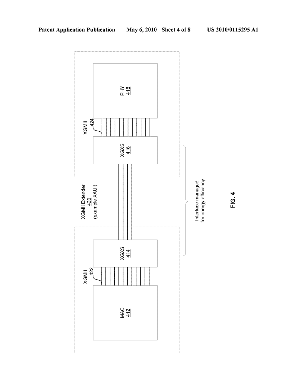 Method And System For Energy Efficient Communication Among One Or More Interfaces In A Communication Path - diagram, schematic, and image 05