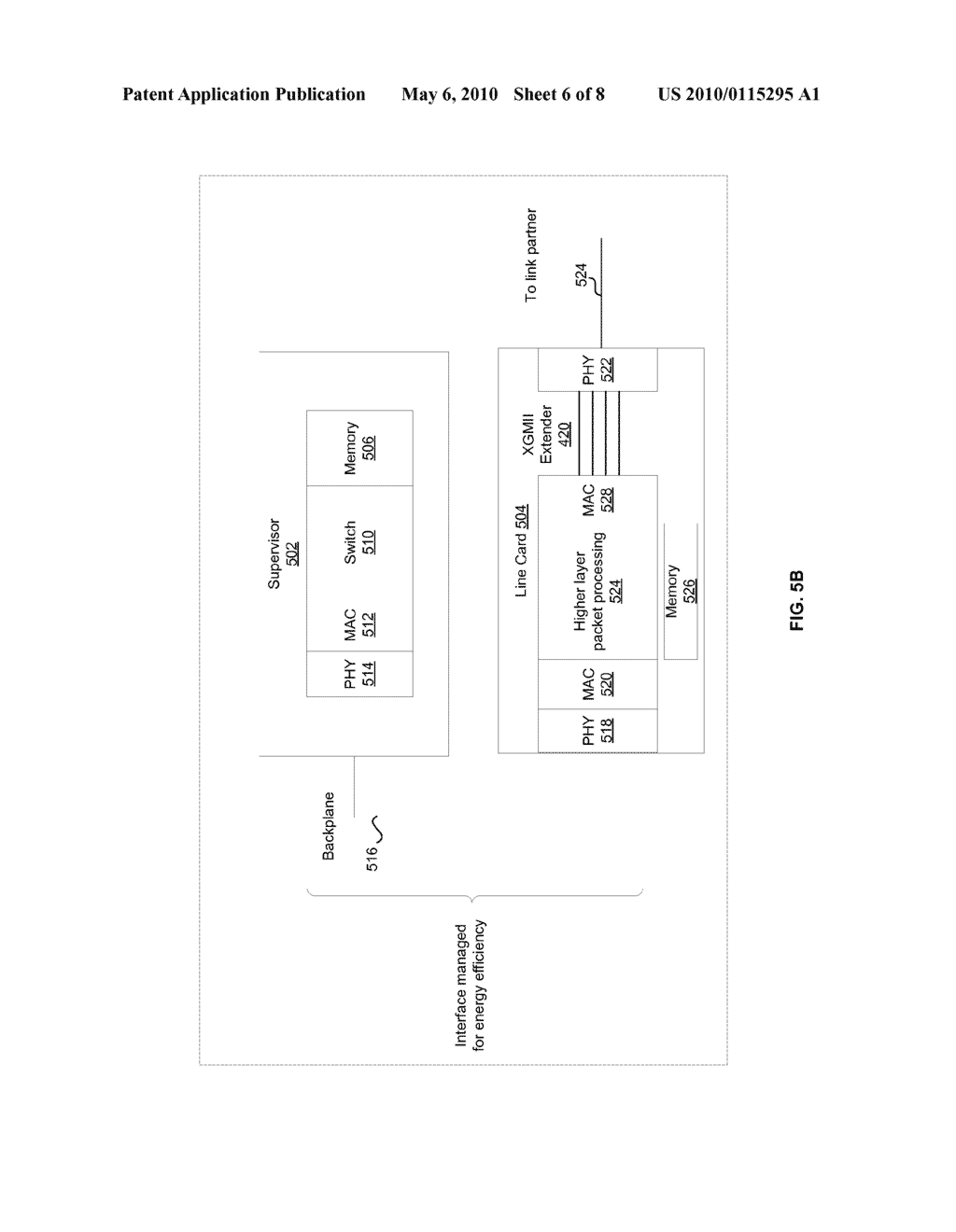 Method And System For Energy Efficient Communication Among One Or More Interfaces In A Communication Path - diagram, schematic, and image 07