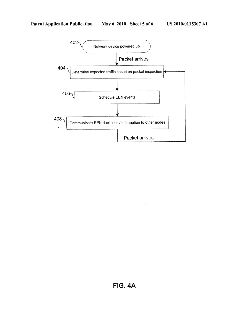 METHOD AND SYSTEM FOR ENERGY EFFICIENT NETWORKING VIA PACKET INSPECTION - diagram, schematic, and image 06