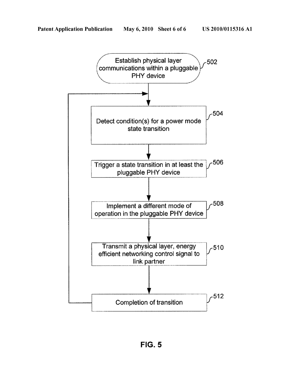 METHOD AND SYSTEM FOR MANAGING ENERGY EFFICIENCY OF A NETWORK LINK VIA PLUGGABLE TRANSCEIVER MODULES IN AN ENERGY EFFICIENT NETWORK DEVICE - diagram, schematic, and image 07
