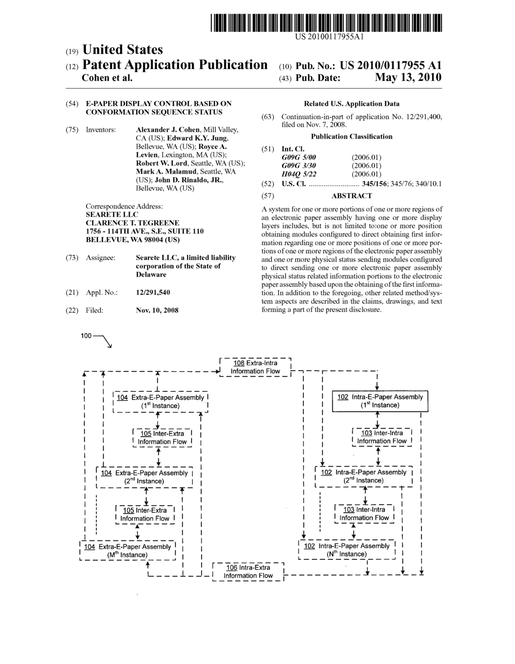 E-paper display control based on conformation sequence status - diagram, schematic, and image 01