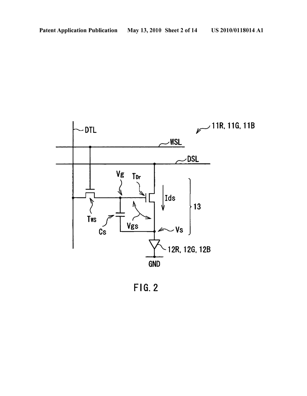 Display device, electronic device, and method of driving display device - diagram, schematic, and image 03