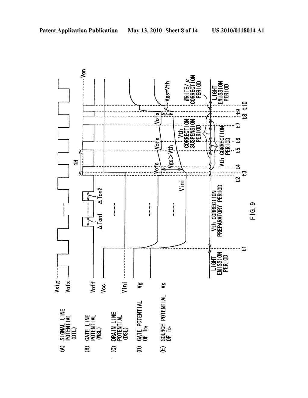 Display device, electronic device, and method of driving display device - diagram, schematic, and image 09