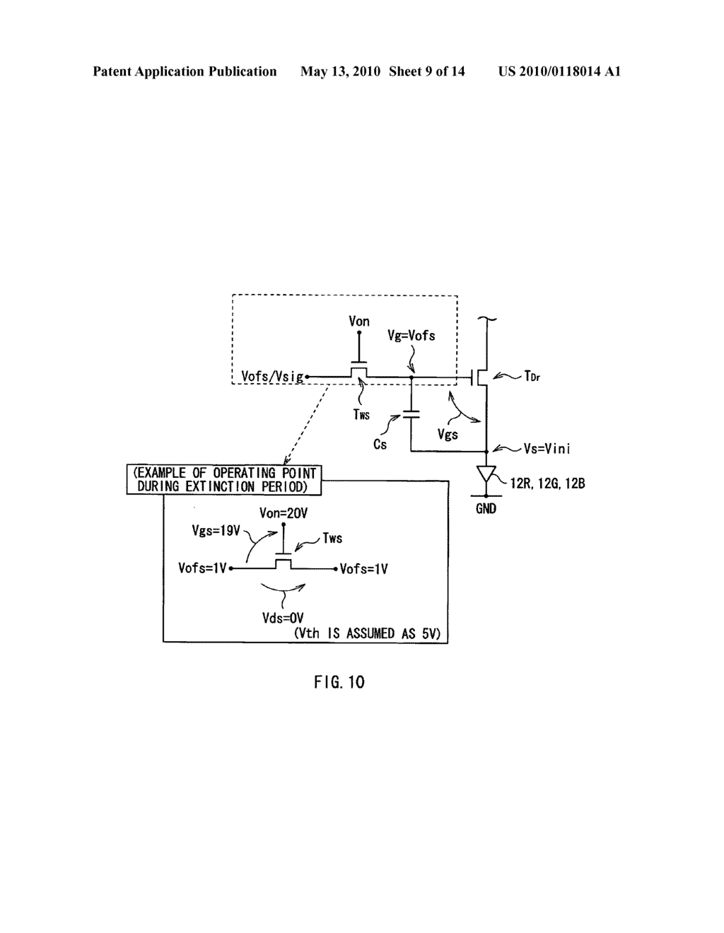 Display device, electronic device, and method of driving display device - diagram, schematic, and image 10