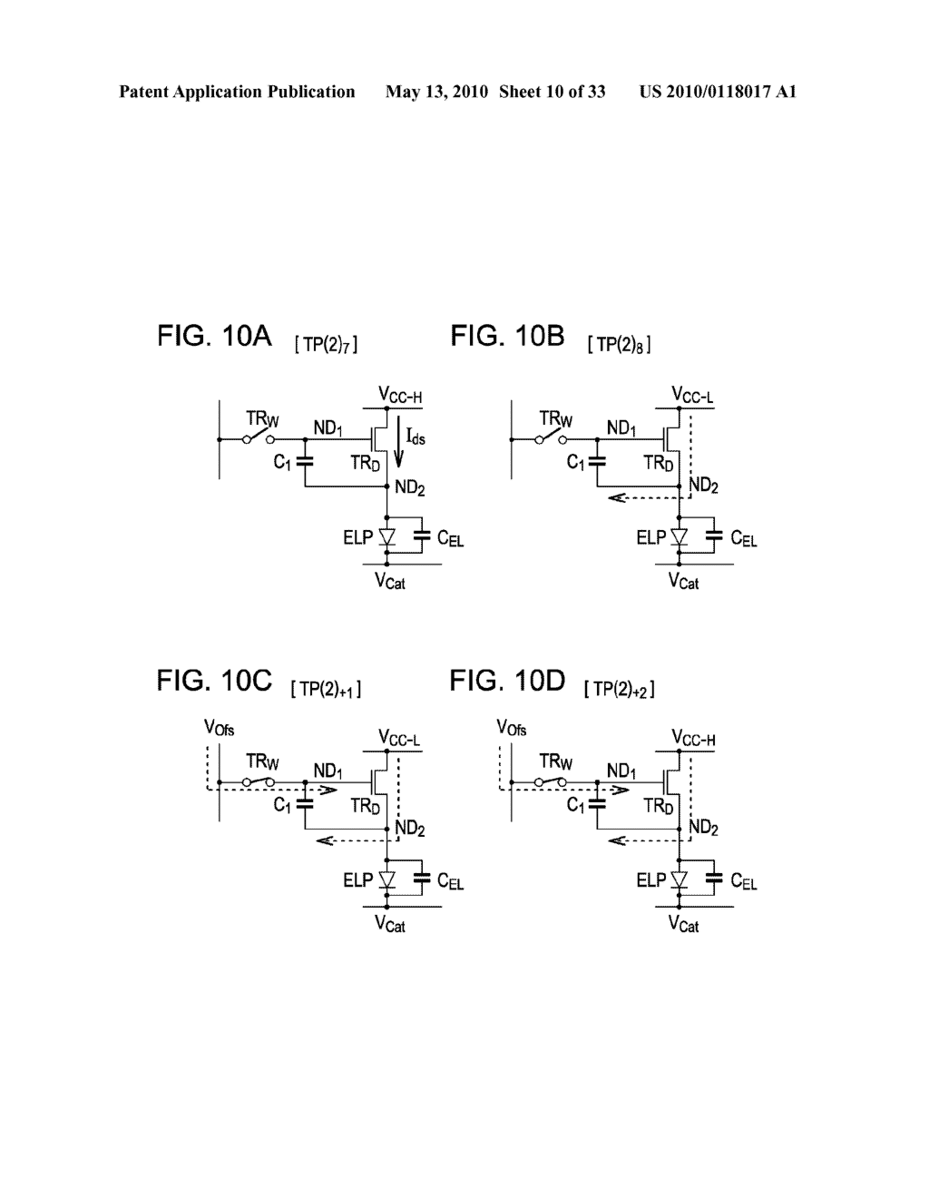 ORGANIC ELECTROLUMINESCENT LIGHT EMITTING UNIT DRIVING METHOD - diagram, schematic, and image 11