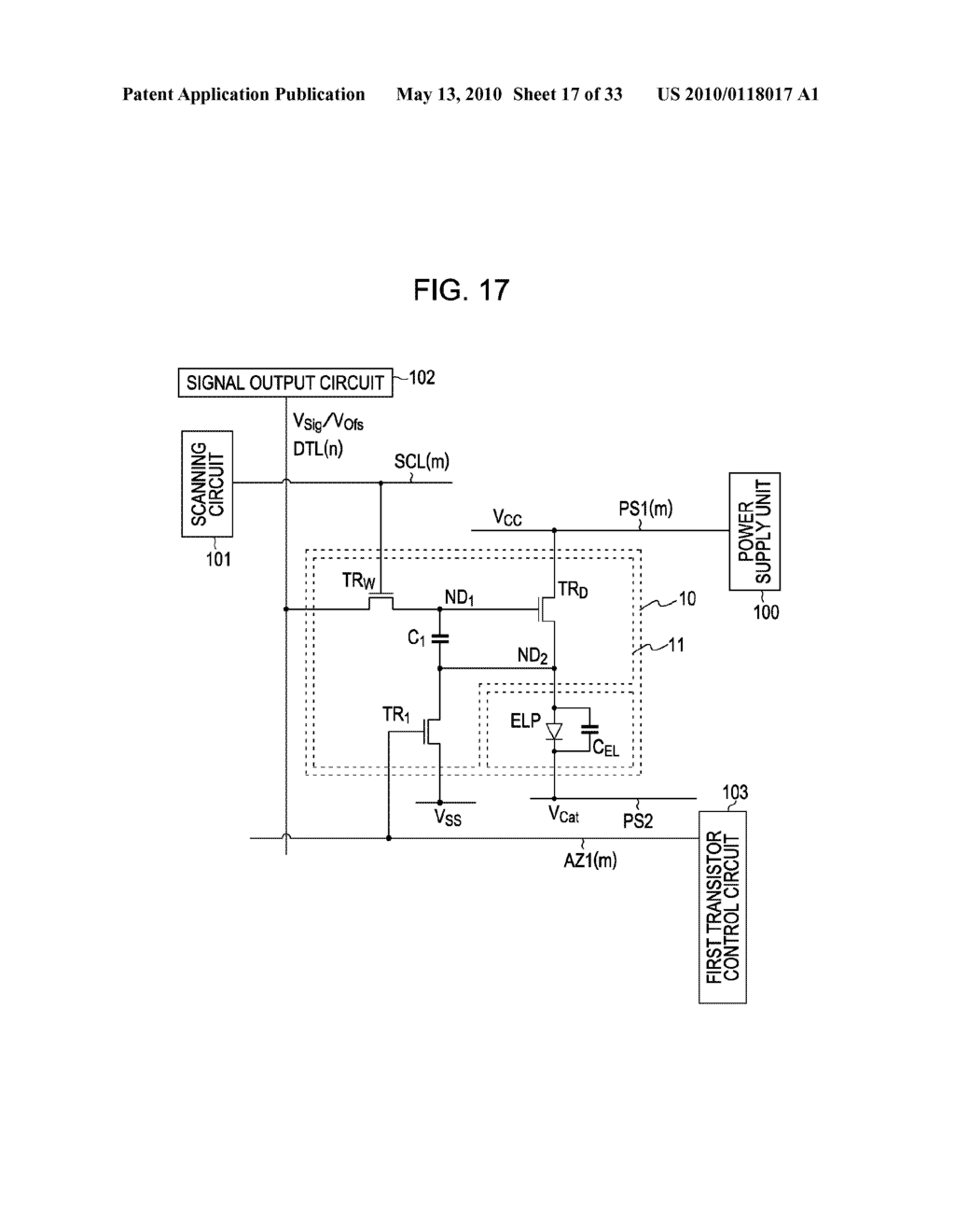 ORGANIC ELECTROLUMINESCENT LIGHT EMITTING UNIT DRIVING METHOD - diagram, schematic, and image 18