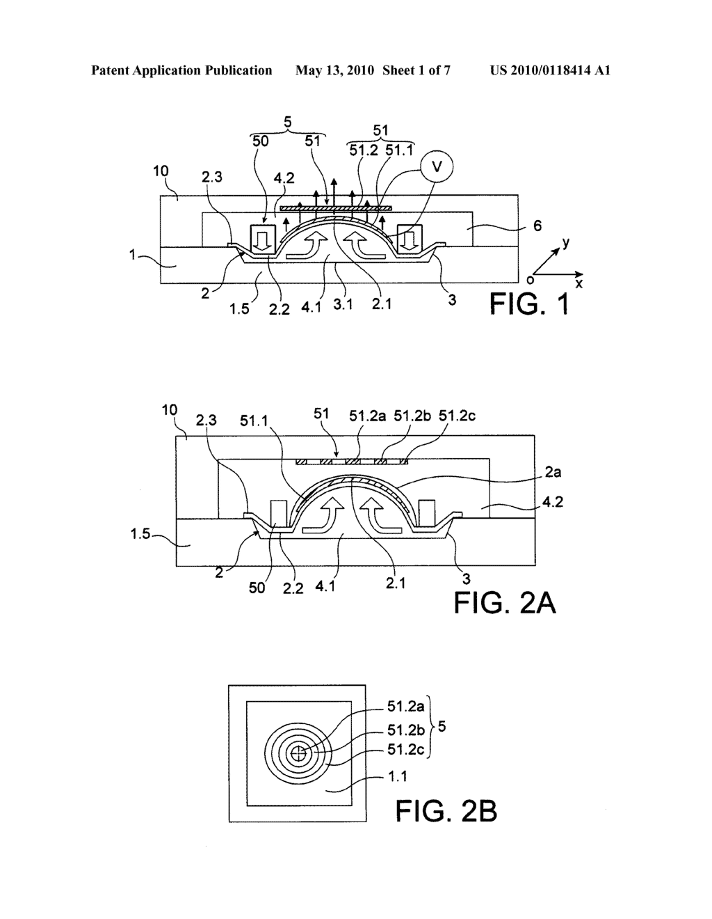 MEMBRANE DEFORMABLE OPTICAL DEVICE HAVING IMPROVED ACTUATION - diagram, schematic, and image 02