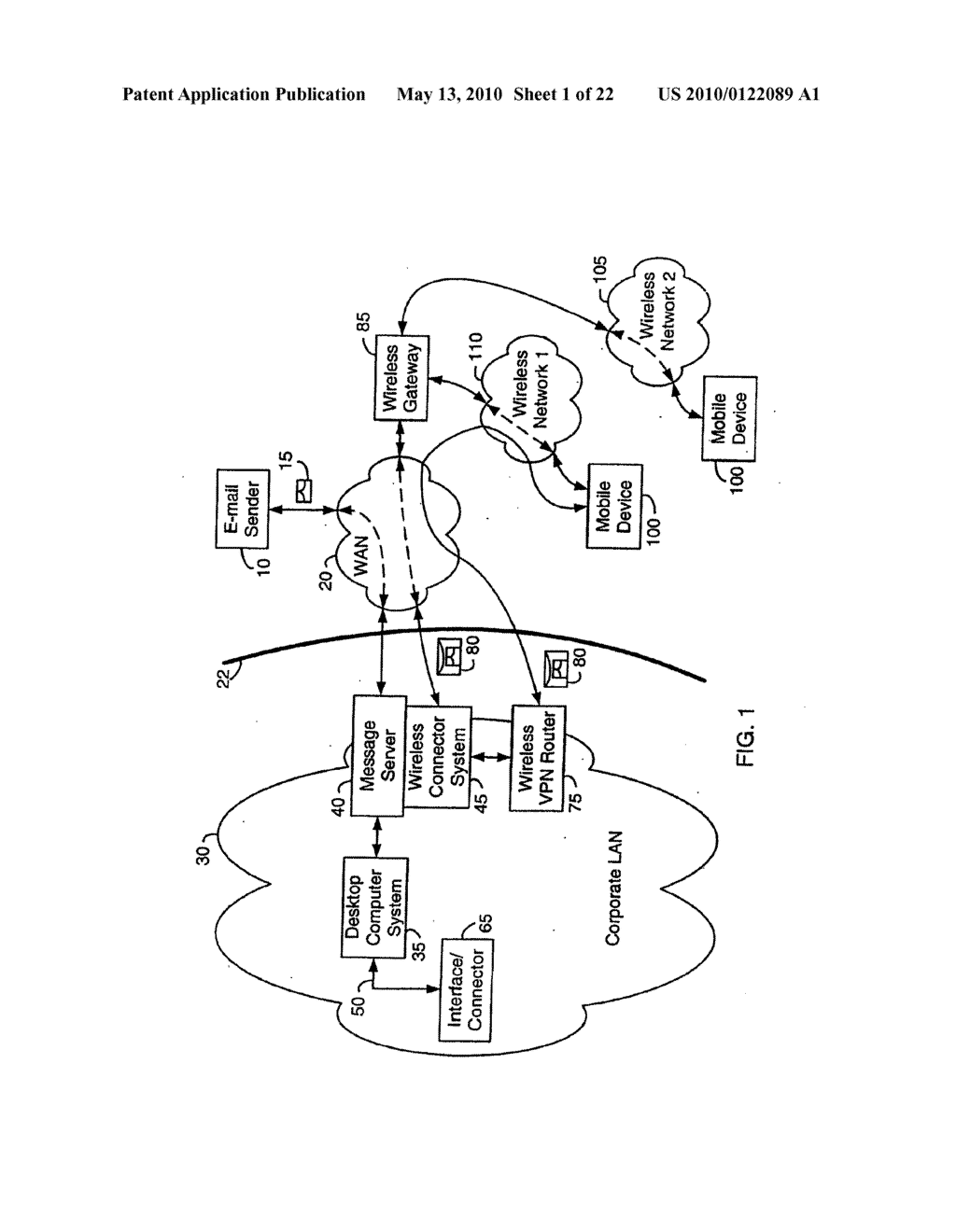 SYSTEM AND METHOD FOR COMPRESSING SECURE E-MAIL FOR EXCHANGE WITH A MOBILE DATA COMMUNICATION DEVICE - diagram, schematic, and image 02
