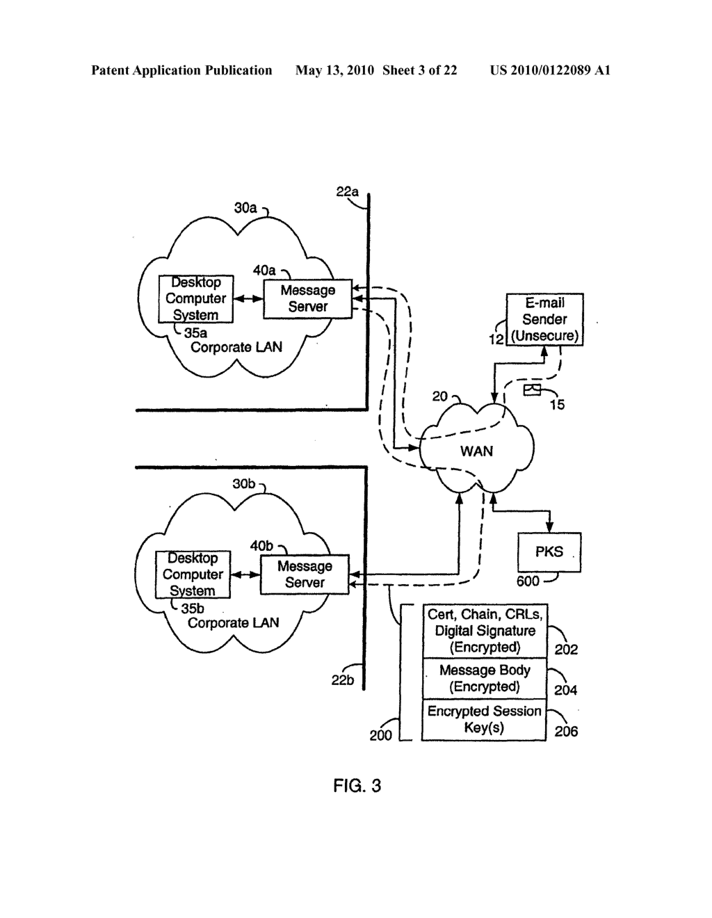 SYSTEM AND METHOD FOR COMPRESSING SECURE E-MAIL FOR EXCHANGE WITH A MOBILE DATA COMMUNICATION DEVICE - diagram, schematic, and image 04