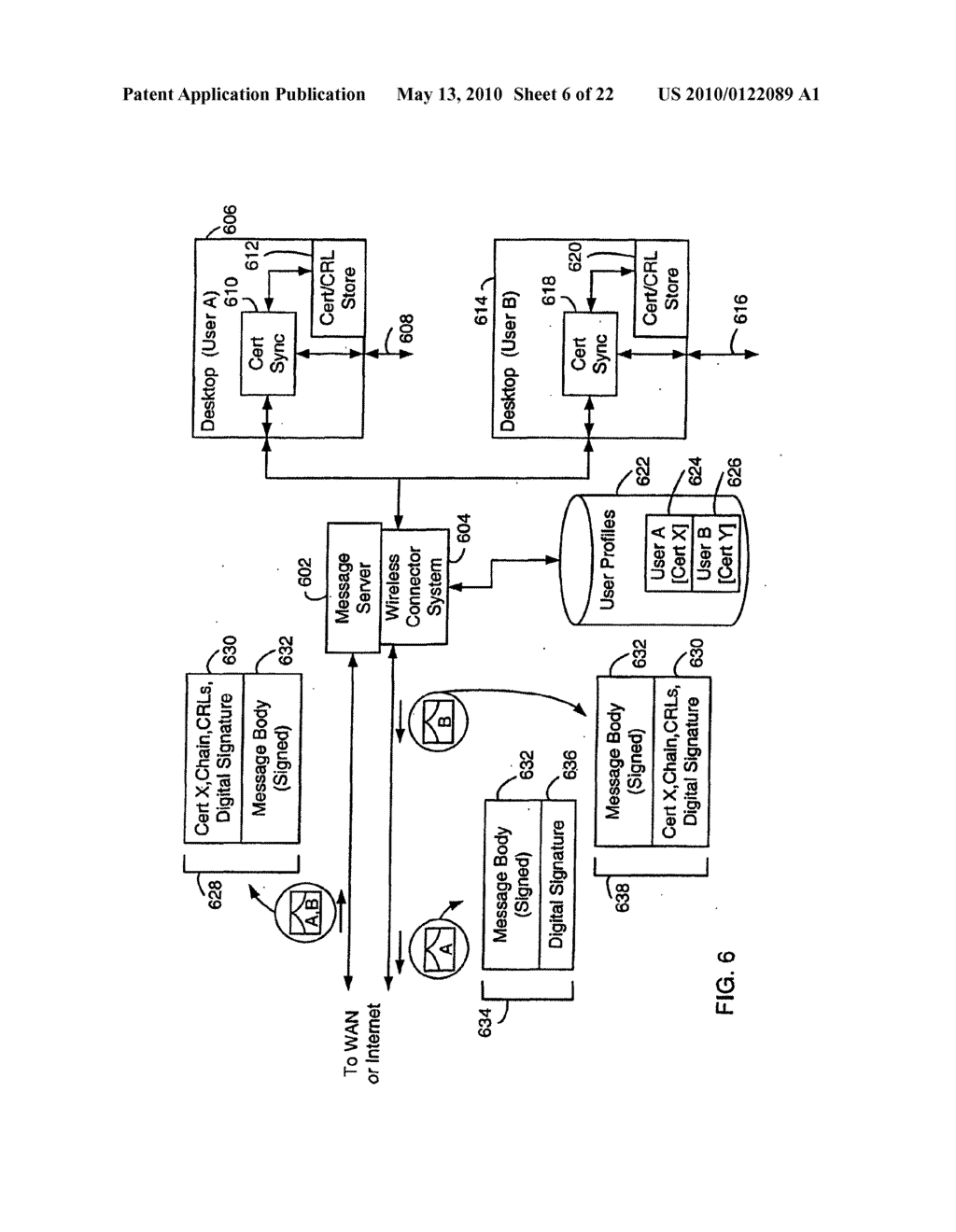 SYSTEM AND METHOD FOR COMPRESSING SECURE E-MAIL FOR EXCHANGE WITH A MOBILE DATA COMMUNICATION DEVICE - diagram, schematic, and image 07