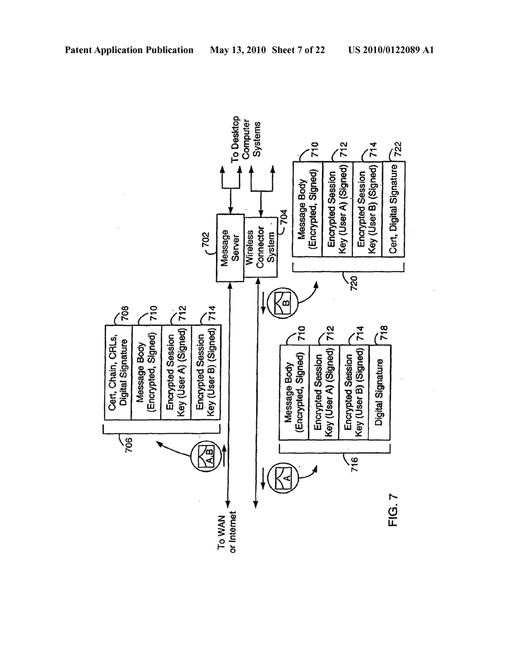 SYSTEM AND METHOD FOR COMPRESSING SECURE E-MAIL FOR EXCHANGE WITH A MOBILE DATA COMMUNICATION DEVICE - diagram, schematic, and image 08