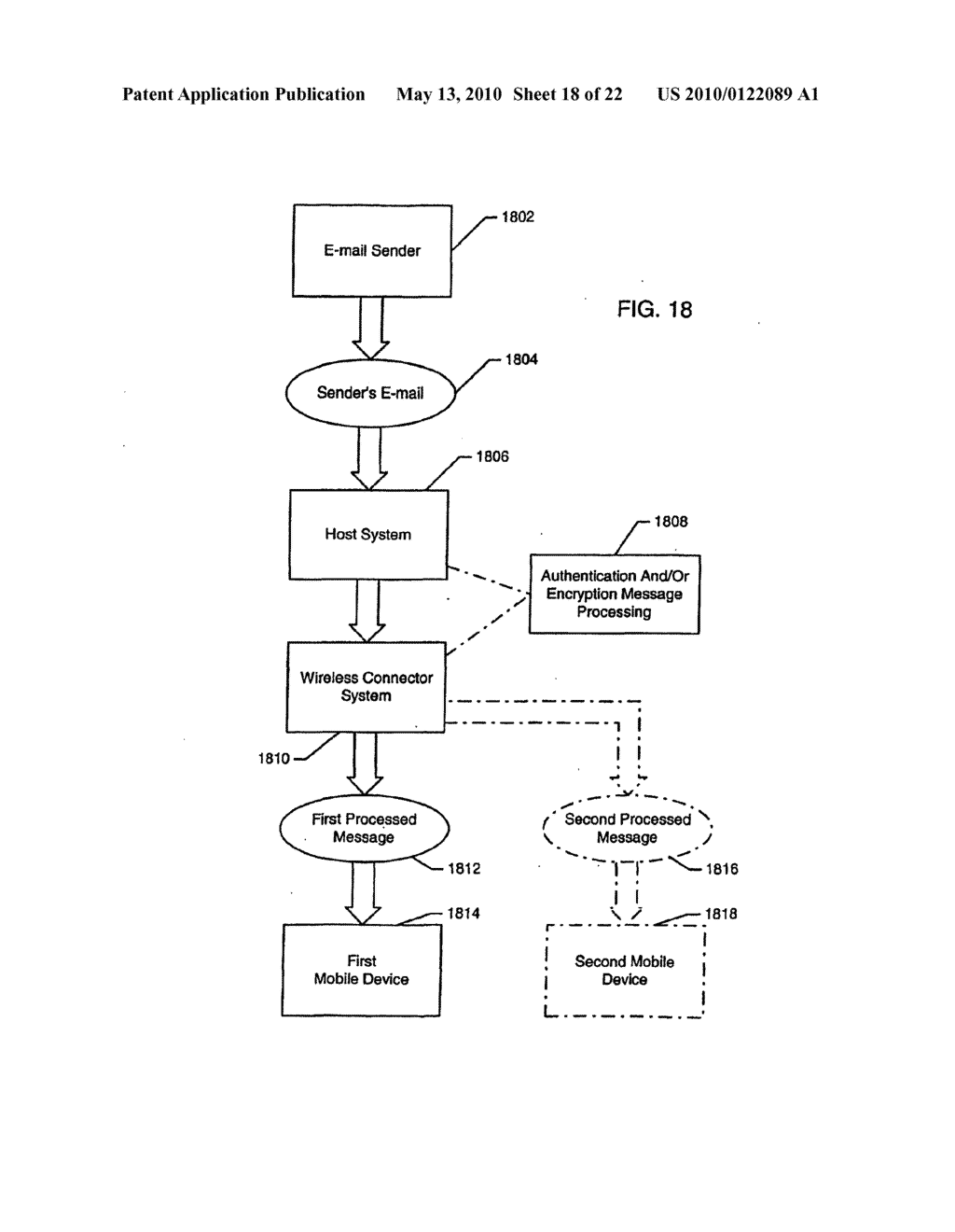 SYSTEM AND METHOD FOR COMPRESSING SECURE E-MAIL FOR EXCHANGE WITH A MOBILE DATA COMMUNICATION DEVICE - diagram, schematic, and image 19