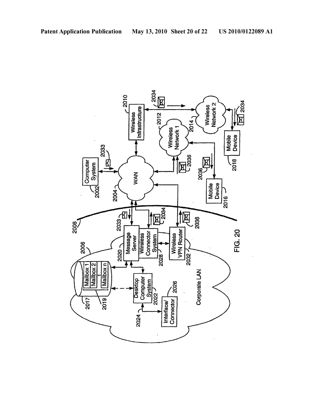 SYSTEM AND METHOD FOR COMPRESSING SECURE E-MAIL FOR EXCHANGE WITH A MOBILE DATA COMMUNICATION DEVICE - diagram, schematic, and image 21