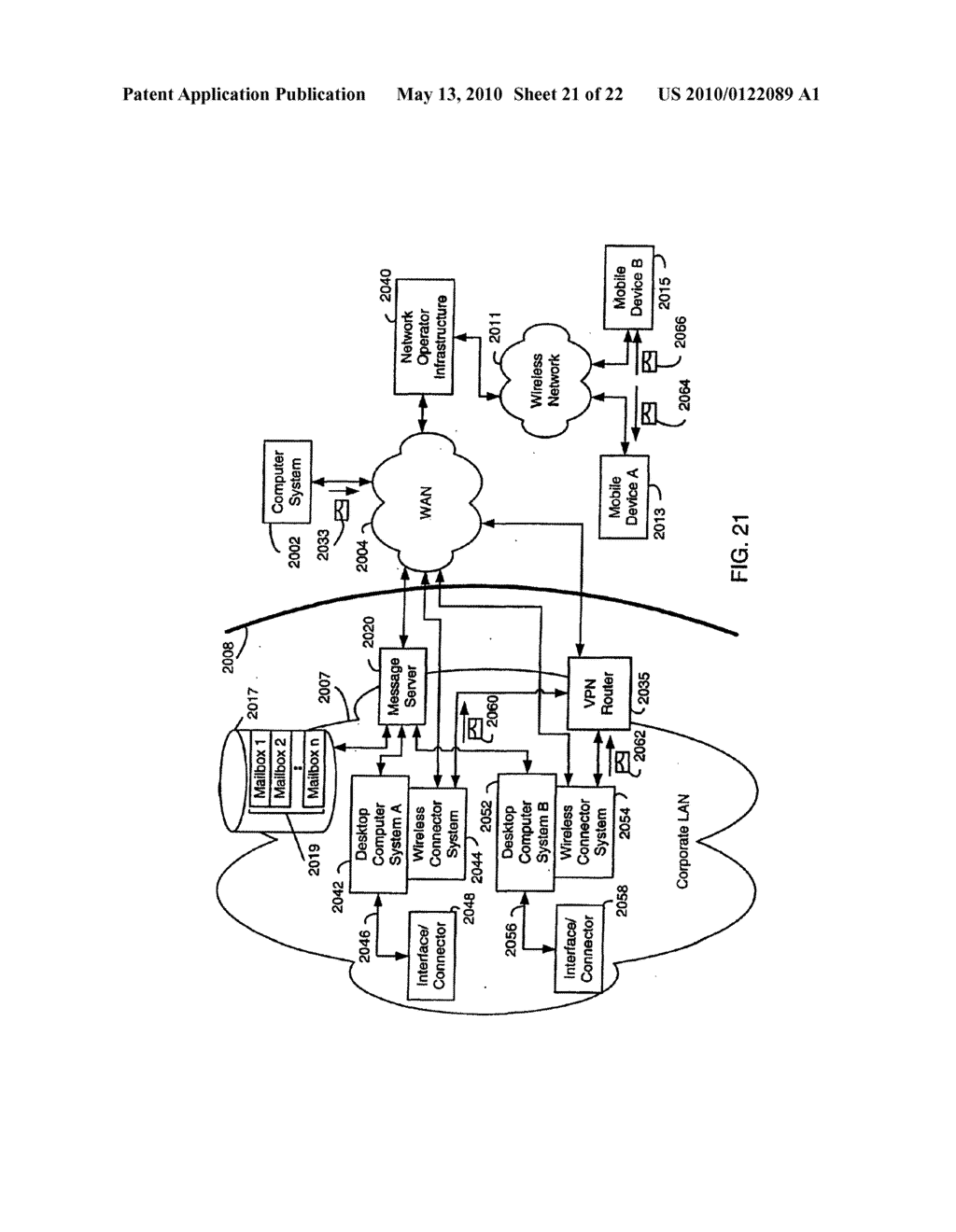 SYSTEM AND METHOD FOR COMPRESSING SECURE E-MAIL FOR EXCHANGE WITH A MOBILE DATA COMMUNICATION DEVICE - diagram, schematic, and image 22