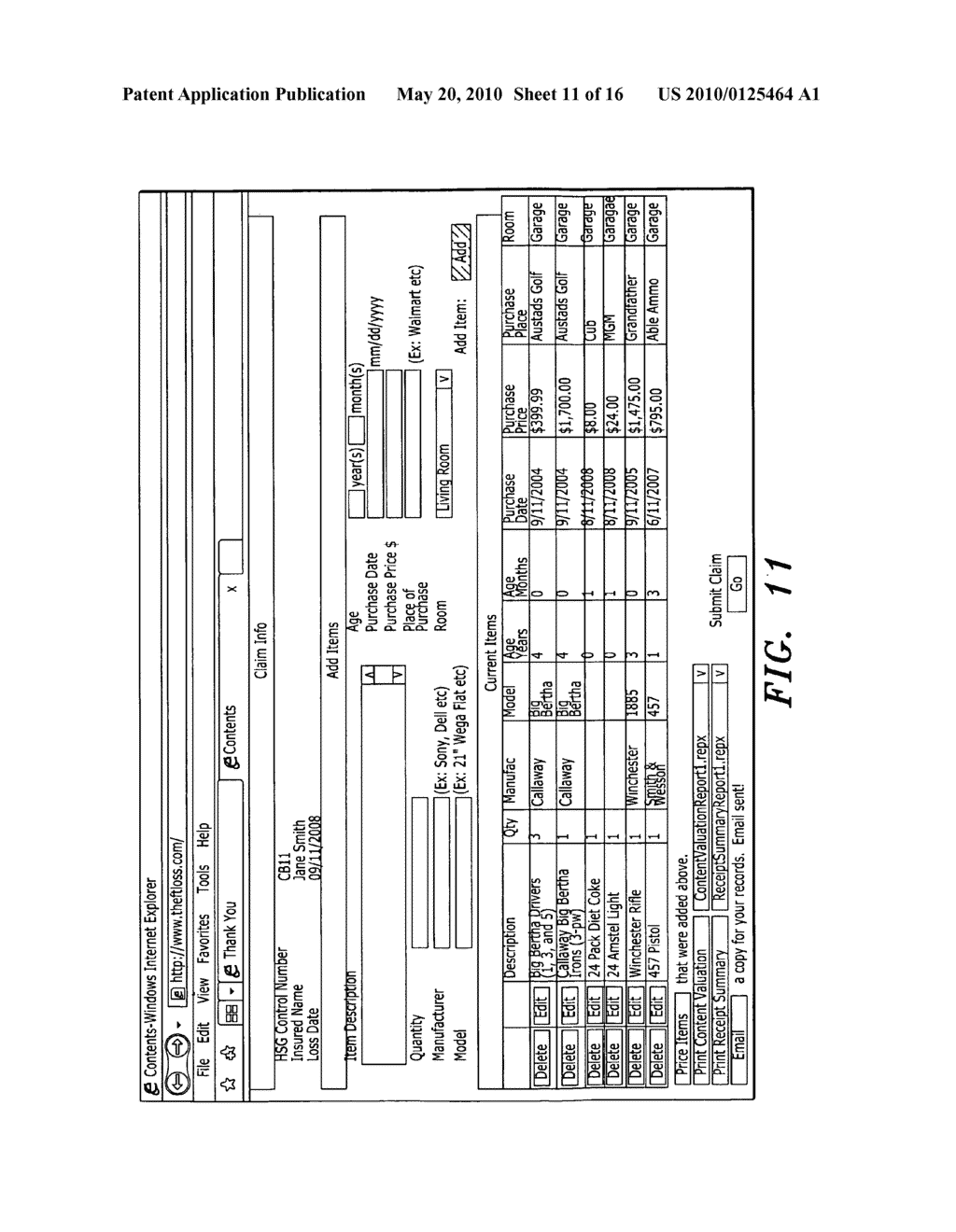 System and Method for Entering a List of Insured Items for Valuation - diagram, schematic, and image 12