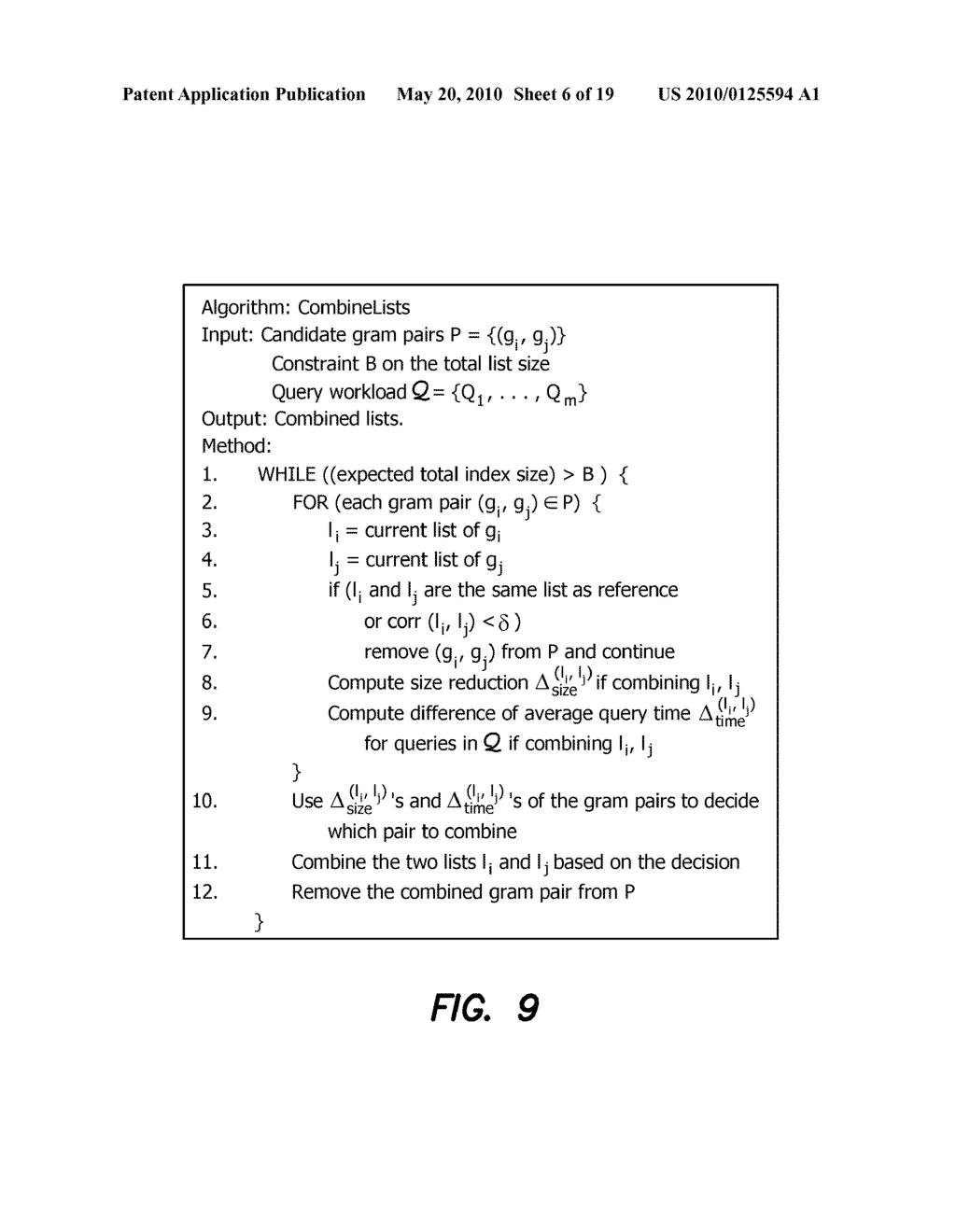 Method and Apparatus for Improving Performance of Approximate String Queries Using Variable Length High-Quality Grams - diagram, schematic, and image 07