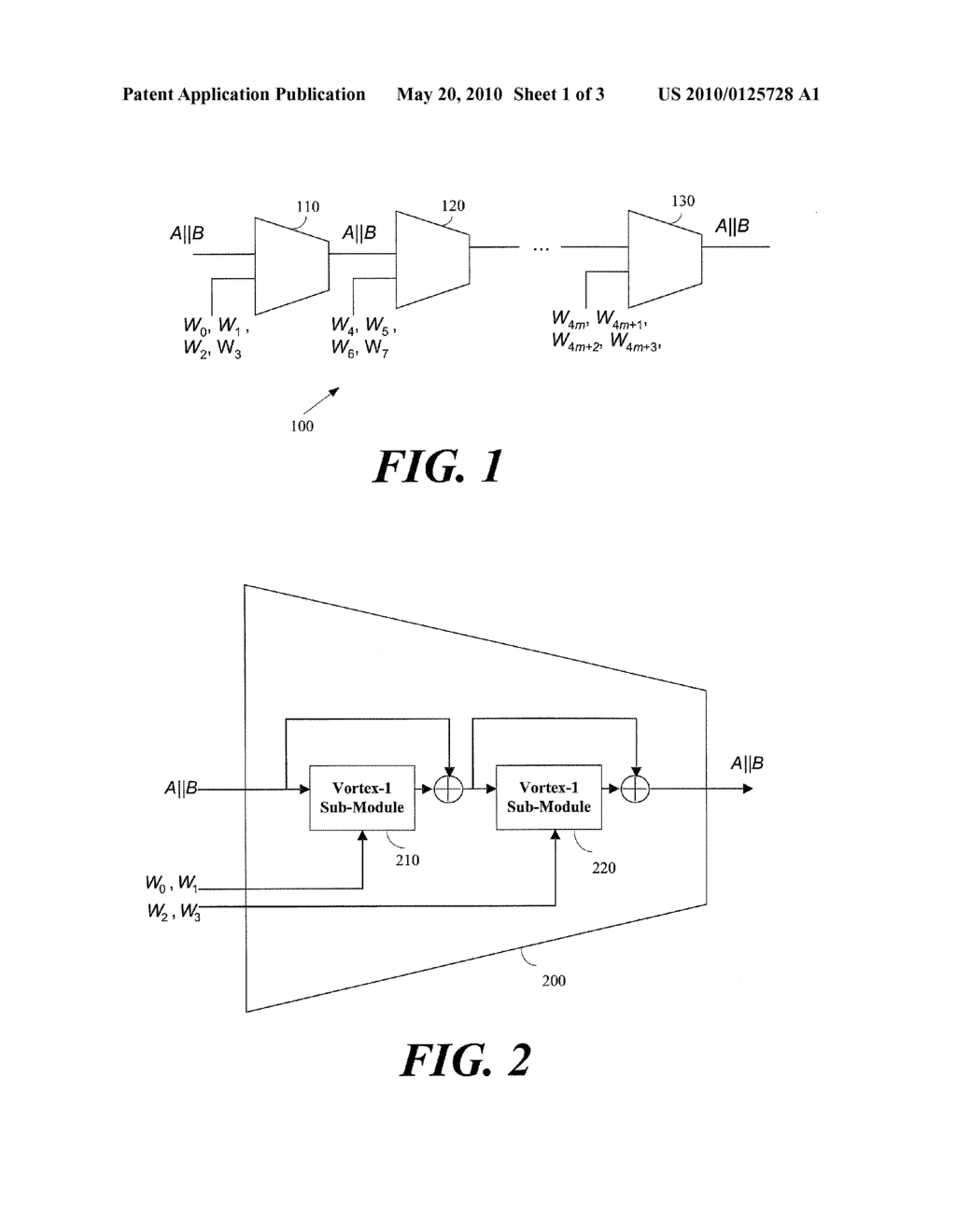 METHOD OF IMPLEMENTING ONE WAY HASH FUNCTIONS AND APPARATUS THEREFOR - diagram, schematic, and image 02